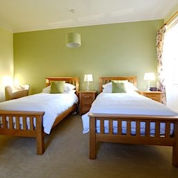 Our twin room which over looks the garden at the The Old Manse Bed and Breakfast near Tain