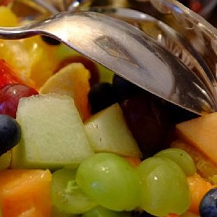 Fresh fruit salad served at The Old Manse Bed and Breakfast