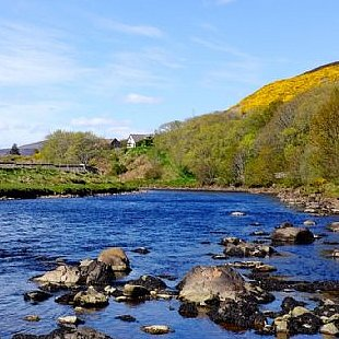 Summer in The Highlands pictured at Helmsdale which is a fabulous 45 minute drive from the Old Manse Bed and Breakfast
